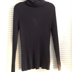 Croft and Barrow Navy Ribbed Turtleneck Sweater